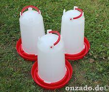 3 x 3 L Stülptränke aus Kunststoff mit Tragegriff und Skala Geflügeltränke Enten