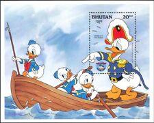 Bhutan 1984 Disney/Donald Duck/Boat/Cartoons/Films/Cinema 1v m/s (n26682a)
