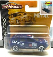 Majorette Dacia Duster Blue Racing Car 1:64 225A Short Package Free Display Box