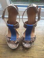 Stylish Anya Hindmarch Sandals Python Skin (Size 4 UK) - TRENDY 2019 SALE!!!