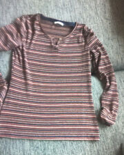 softes Longsleeve Langarm-Shirt v. Esprit,Gr. S (36),rosa gestreift, Strick, Top