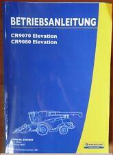 NEW Holland mietitrebbiatrici CR 9070, CR 9080 Elevation manuale di istruzioni