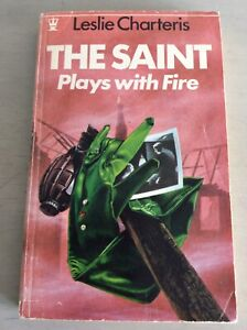 Vintage 1971 The Saint Plays With Fire by Leslie Charteris Hodder Paperback Book