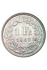 Suisse 1 Franc 1963 Argent