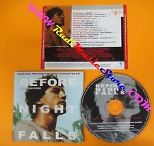 CD BEFORE NIGHT FALLS 2000 SPAIN OST 19 PROMO no dvd vhs mc (OST2)