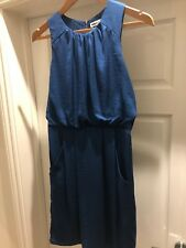 Whistles Blue Coctail Party Dress Size 10