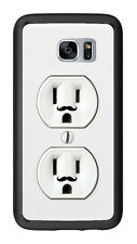 Wall Outlet Duplex With Mustache For Samsung Galaxy S7 G930 Case Cover by Atomic