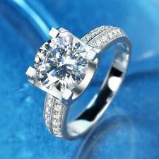 Engagement Ring G14K White Gold Certified 2.36Ctw Excellent D/Vvs Moissanite