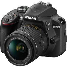 Nikon D3400 24.2 MP Digital SLR Camera 18-55mm AF-P f/3.5-5.6G VR Lens US Model