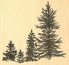 PINE TREE GROUP Wood Mounted Rubber Stamp Impression Obsession H7786 NEW