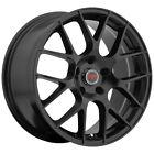 4-revolution R6 18x8 5x112 40mm Satin Black Wheels Rims 18 Inch