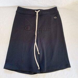 Rick Owens X Champion Logo Embroidered Track Shorts Sz XS