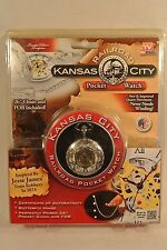 Kansas City Railroad Pocket Watch COA Pocket Chain and FOB Jesse James NIB ASOTV