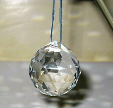 5 FENG SHUI Hanging Glass Crystal Ball Sphere Sun Catcher Prism Rainbow 88g 2""