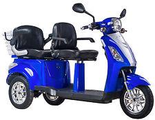 Elektromobil, Zweisitzer, E-Mobil, Seniorenfahrzeug, E-Dreirad Blau