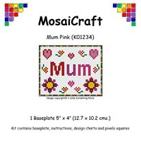 MosaiCraft Pixel Craft Mosaic Art Kit 'Mum Pink' Pixelhobby