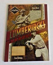 2003 Leaf Limited Lumberjacks Bat Silver #45 Babe Ruth/Lou Gehrig NO NUMBER RARE