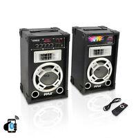 "Pyle PSUFM837BT 8"" Bluetooth PA USB/SD/FM/AUX Dual Karaoke DJ Speaker System"