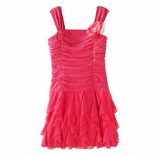 NWT Girls 7 MY MICHELLE Coral Ruched Dress PRETTY ~ L@@K!