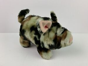 Vintage IWAYA CORP Camo Pig Walks Wiggles Snout Snorts Wags Tail 1986 Plush Toy