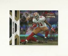 2010 Panini Threads Gold Holofoil #125 Frank Gore numbered /100 Hurricanes 49ers
