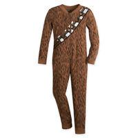 Disney Store Star Wars Chewbacca Chewie One Piece Kids Pajamas Size 4 5 6 7 8