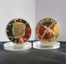 2018 US President Donald Trump Gold Plated Commemorative Coin
