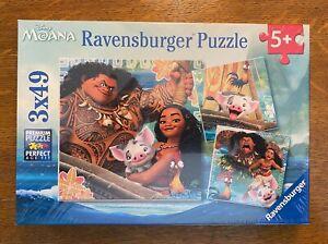 Ravensburger Disney Moana - Born to Voyage 49 Piece Jigsaw Puzzle - Pack of 3