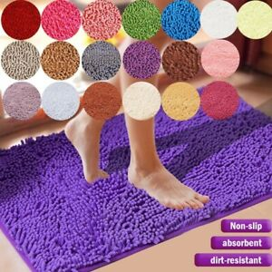 Thick Home Bathroom Carpets Tub Shower Pads Kitchen Toilet Floor Decor Washable