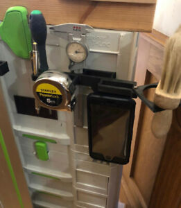 Festool systainer box mounted accessory holder