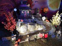 .HALLOWEEN,  WINDING ROAD Display Base Platform, Dept 56 Village, cemetery