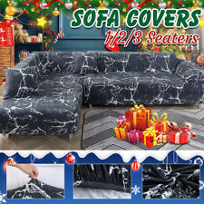 2/3 Seat Sofa Covers Couch Slipcover Stretch Fabric Settee Protector +Pillowcase