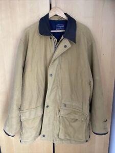 Mens XXL Light Brown Cottonfield Jacket Warm Winter Heavy Coat