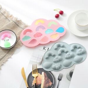 Rainbow Cloud Cake Jelly Cookies Soap Mold Chocolate Baking Mould Tray Ice Cube