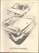 1969 Vintage ad for Fiat 124 Sport Coupe`retro car Price Art Auto        042119)