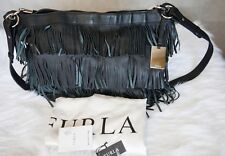 FURLA Fringe Leather Shoulder Crossbody Bag
