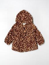 Toddler Girl Widgeon Brown Animal Leopard Print Faux Fur Coat Jacket Size 4T