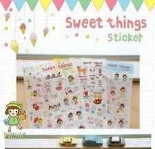 #53 Sweet things cute girl cartoon pvc stickers notebook diary deco 6 sheets