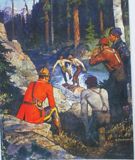 Canadian Mountie RCMP WATCHING LOG ROLLING