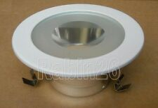 4 INCH RECESSED CAN CEILING LIGHT 120V SHOWER TRIM GLASS SPOT CLEAR LENS WHITE