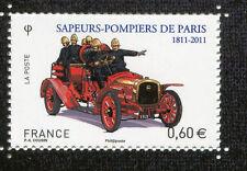 FRANCE 2011, timbre SAPEURS-POMPIERS de PARIS, VOITURE, AUTOMOBILE, neuf**