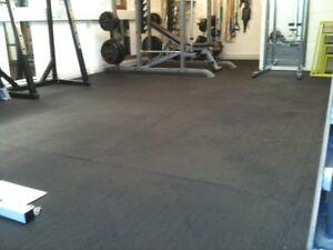 Heavy Duty Large Rubber Gym Black Crossfit Mat Commercial Flooring 12mm Matting