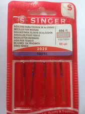 AIGUILLES SINGER 20/20 TAILLE 100 POUR MACHINE A COUDRE