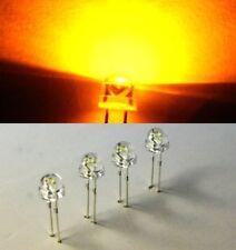 50 LED gelb 700mcd  yellow 120° 5mm Flachkopf Strawhat Strawcap