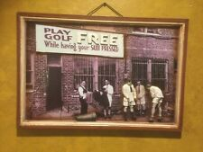 """DAVID RAPOPORT """"PLAY GOLF FREE WHILE HAVING YOUR SUIT PRESSED"""" Framed 3-D Art"""