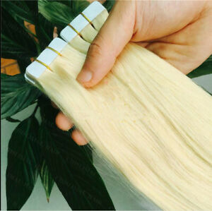 """7A* Best Quality 16''-24"""" Tape-In Russian Remy Human Hair Extensions"""