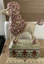 "Jim Shore Heartwood Creek ""Lulu"" Poodle Dog Figurine - Retired"