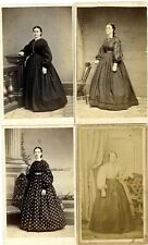 Usa Civil War Women'S Fashions In Four Period Photos With Revenue Stamps