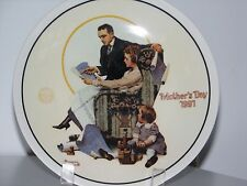 "Norman Rockwell Mother's Day Plate 1991 ""Building Our Future"" Mother's Day Nib"