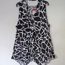 MAGNA Lagenlook Tunika Shirt Neckholder A-Linie schwarz-weiß 48-50 (4)
